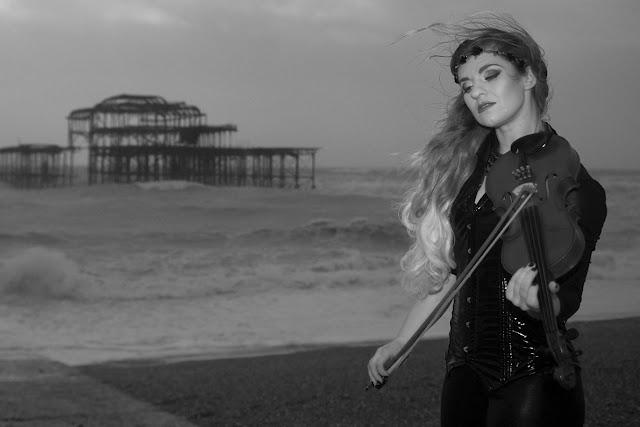 brighton model violin and the pier