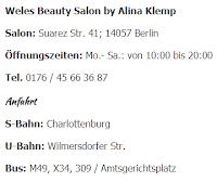 Weles Beauty Salon von Alina Klemp in Berlin - Charlottenburg