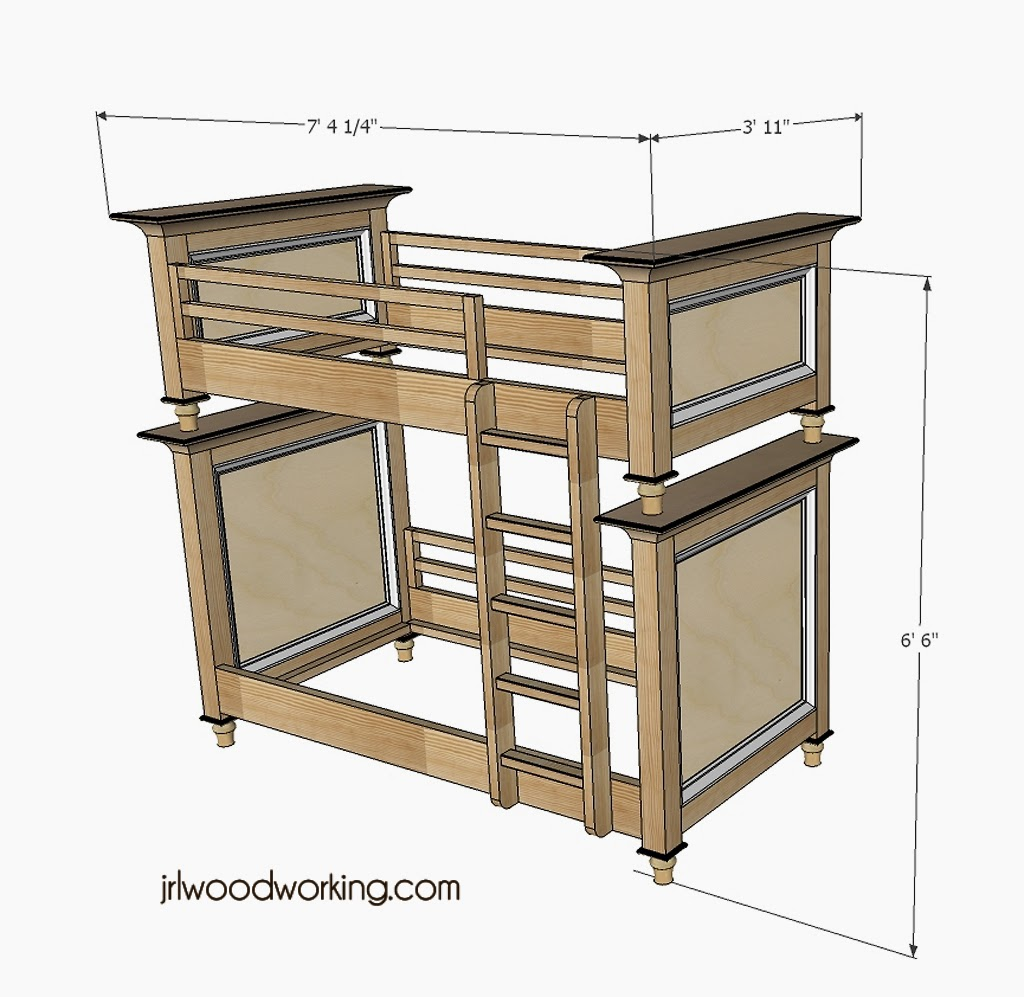 Bunk Bed Dimensions Jrl Woodworking Free Furniture Plans And Woodworking