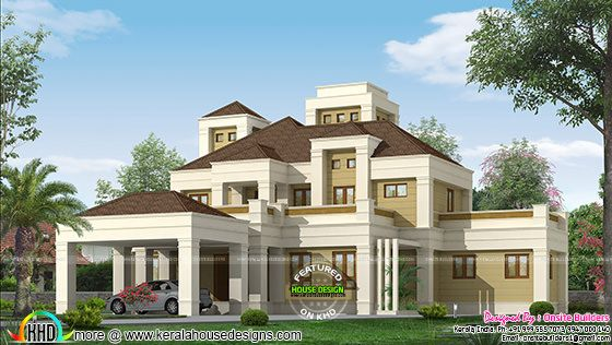 Elegant Colonial Home Plan Kerala Home Design And Floor