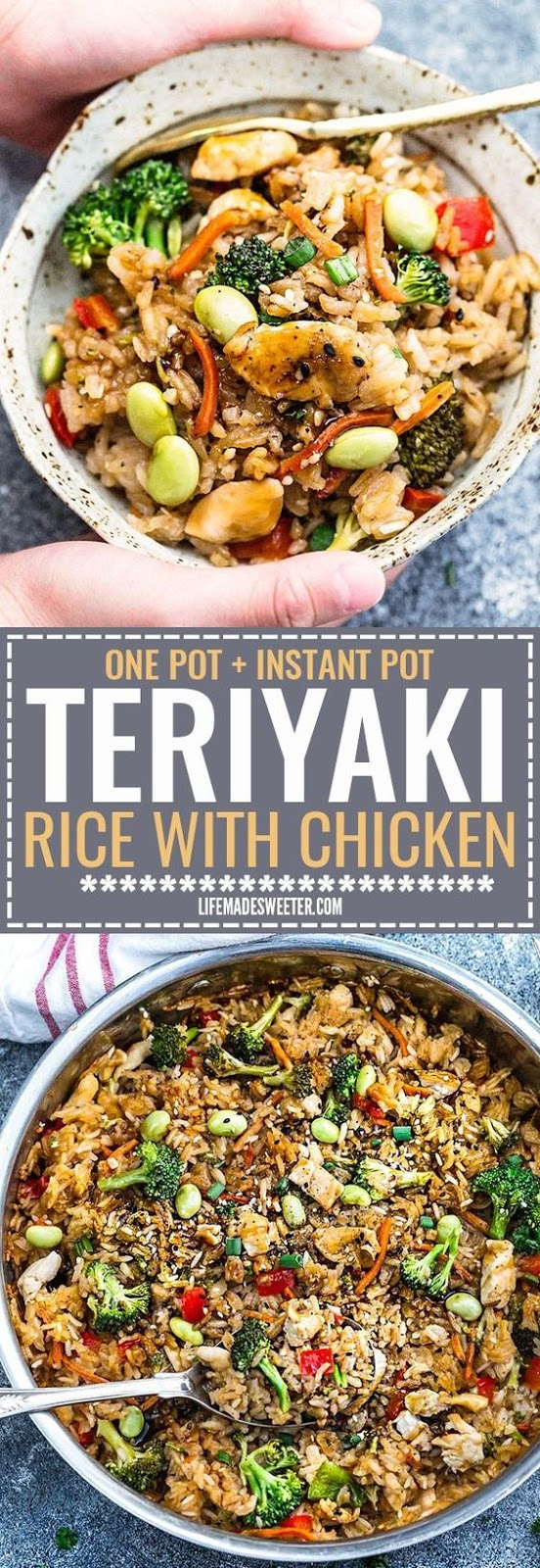 One Pot Teriyaki Rice with Chicken & Vegetables (+Instant Pot)