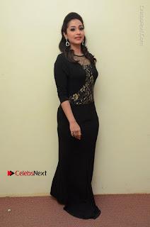 Telugu Actress Manasa Manohar Stills in Black Long Dress at Naku Nene Thopu Turumu Trailer Launch  0039.JPG