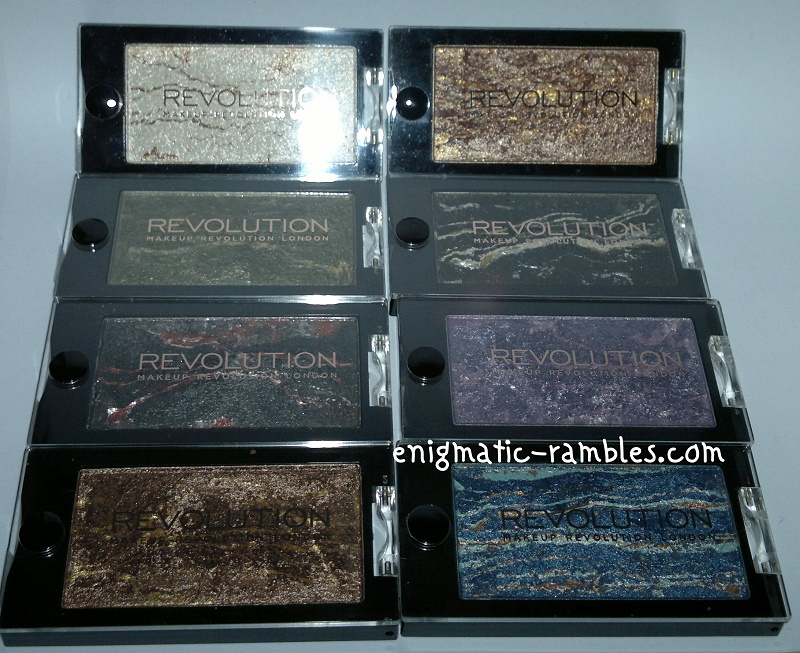 Makeup-Revolution-Merged-Eyeshadows-Swatched-Swatch-Swatches-Heavenly-Galactic-Celestial-Star-Burst-Moon-Dust-Astral-Limitless-Blue-Planet