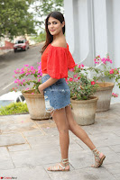 Rhea Chakraborty in Red Crop Top and Denim Shorts Spicy Pics ~  Exclusive 177.JPG