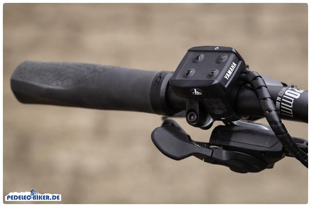 Die Fernbedienug zur Bedienung des Yamaha Antriebsystems ist kompakt aber übersichtlich gestaltet.