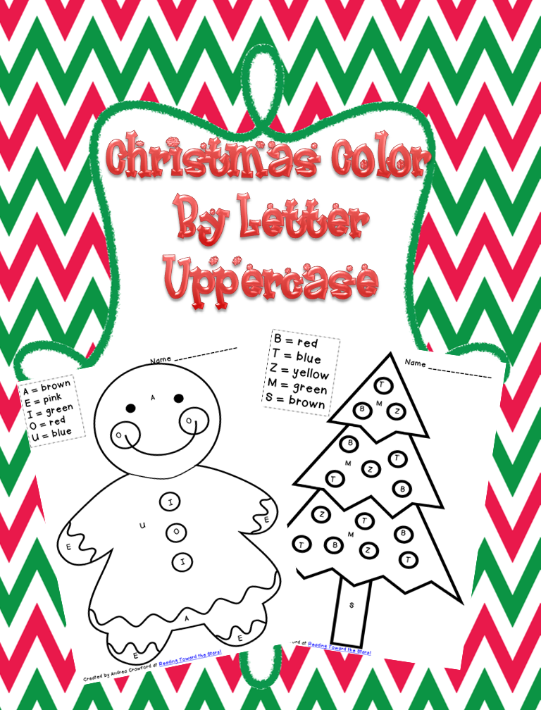 Christmas Color By Letters Freebie This Literacy Life