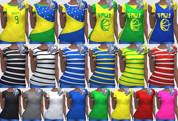 Camisetas Brasil - TodaSims