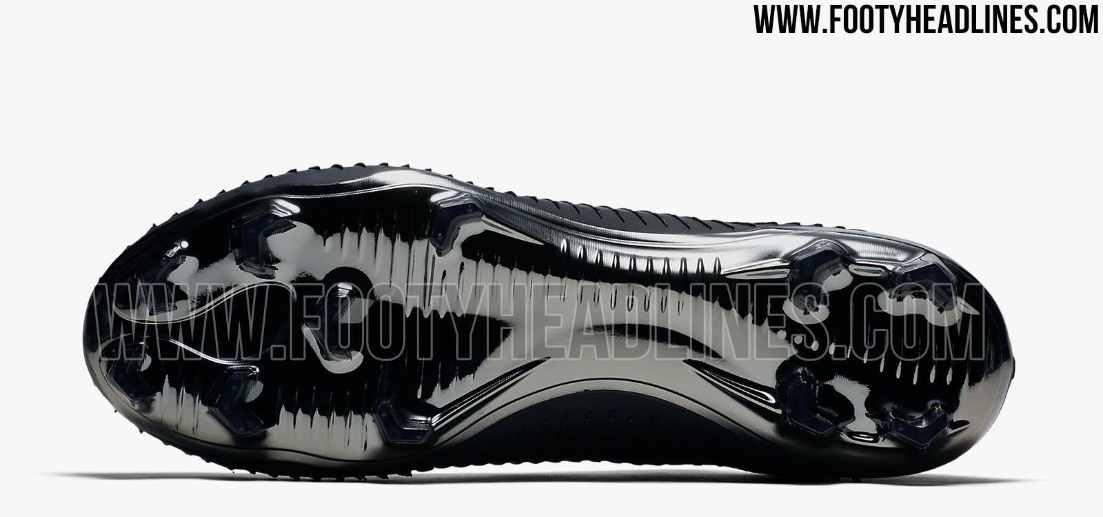 ba63c951e37 All-New Black   Silver Metallic Nike Flyknit Ultra Football Boot ...
