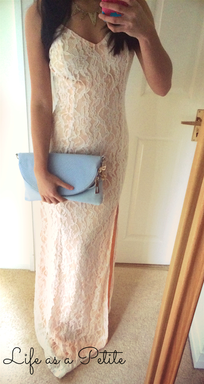 Formal Outfit Ideas - Pink and Lace Maxi Dress