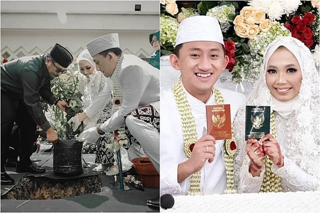 Pernikahan Unik Putri Walikota Balikpapan, Mas Kawinnya 2 Pohon Mangga, Langsung Ditanam Usai Akad