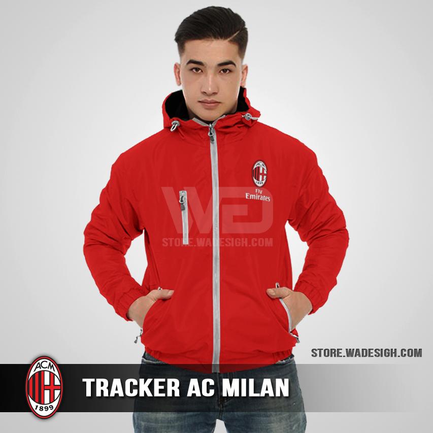 Jaket Tracker Waterproof AC Milan