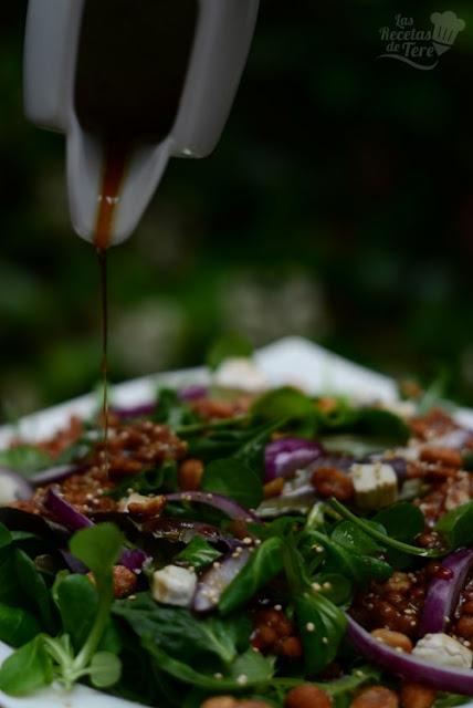 Ensalada de brotes y lentejas receta casera 03