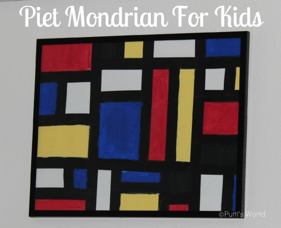 Piet Mondrian For Kids Putti S World Kids Activities