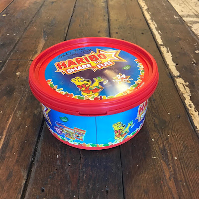 Choose your project.  A Haribo sweet tub or chocolate tub is perfect for creating up cycled storage
