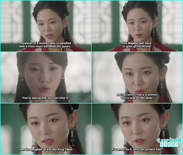 yeon hwa also told hae soo about her scar on the body and some other things about government affirs for the king - Scarlet Heart Ryeo - Episode 17 - 18 (Eng Sub)