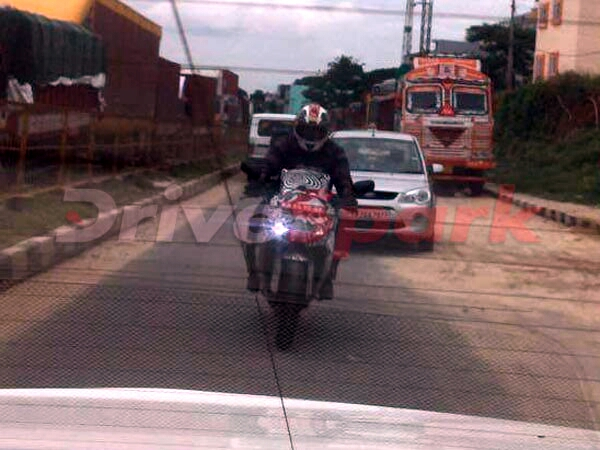 TVS Akula 310 spotted testing for thefirst time in India