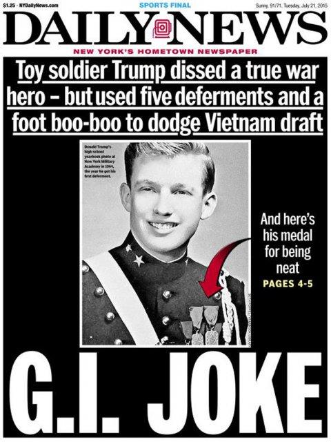 Donald Trump: la investigación que lo coloca como un cobarde
