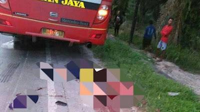 Kecelakaan Maut Di Pinggir, Lintas Pekanbaru- Duri, Tubuh Ibu dan Anak Terpotong - Potong