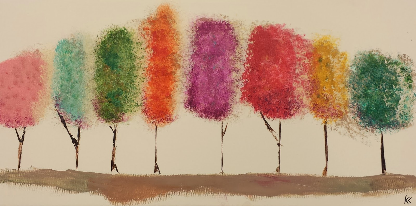 Angela Anderson Art Blog: Easy Tree Painting - Kids Art ...