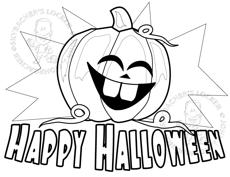 Printable happy halloween 2017 coloring pages for kids for Happy halloween coloring pages printable