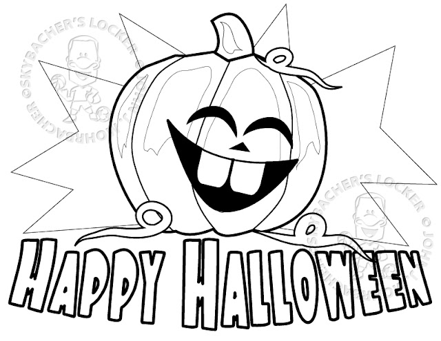 Free downloadable happy halloween 2017 coloring sheets to print