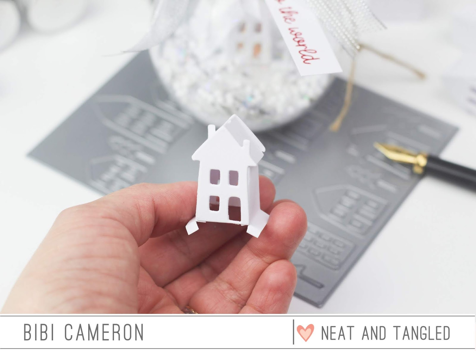 From cover plate die to 3D paper miniature house and