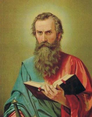 San Pablo Sosteniendo el Libro Abierto