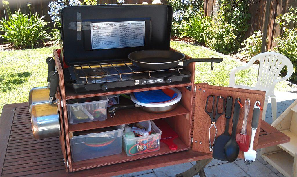 Victorian Free Camping Camp Box Chuck Box Kitchen Box