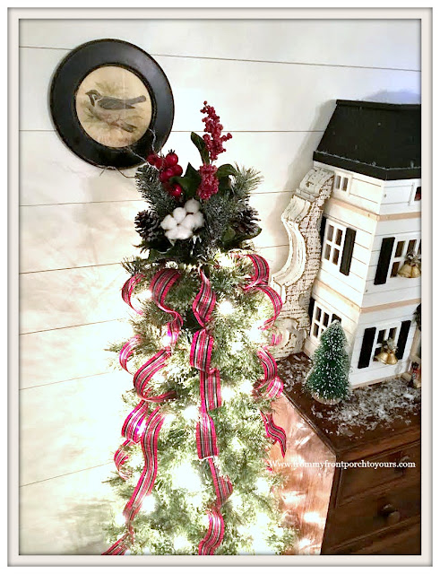 Christmas-Foyer-Shiplap-DIY-Christmas Tree-From My Front Porch To Yours