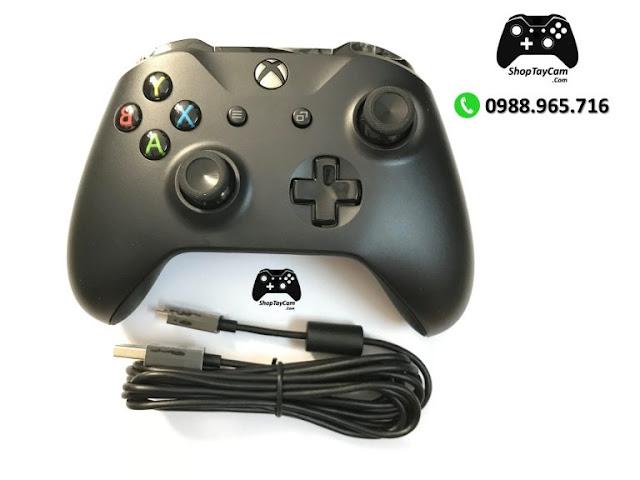 Cáp Cable Tay Cầm Cho Xbox One / Xbox One S / Tay PS4 Chính Hãng Logo Xbox Kết Nối Có Dây Dài 2,7M - Ảnh 2