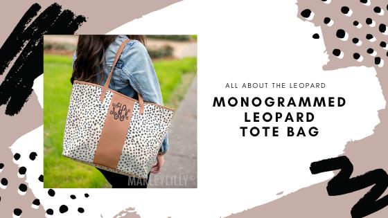 monogrammed leopard tote bag