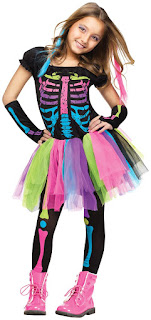 Funky Punk Skeleton Child Halloween Costume