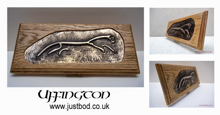 Uffington Horse sculpted metal wall plaque