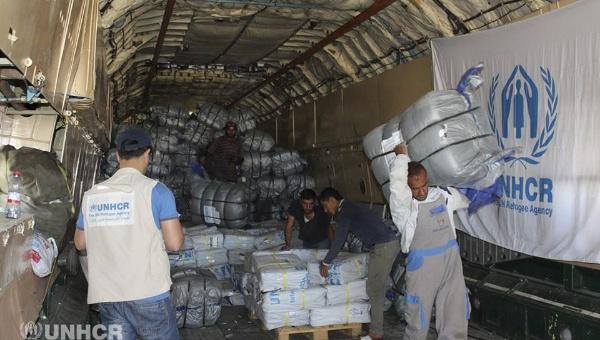 ONU entrega 39 toneladas de alimentos a ciudad siria