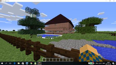 minecraft kétszintes ház