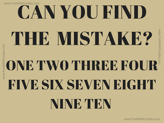It is the puzzle picture in which your challenge is to find the mistake