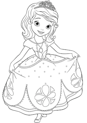 Gambar Mewarnai Putri Sofia - 6