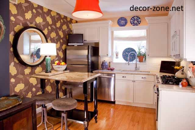 small kitchen wallpaper patterns