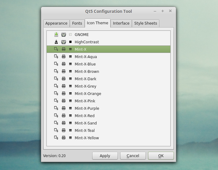 Configure Qt5 Application Style, Icons, Fonts And More With
