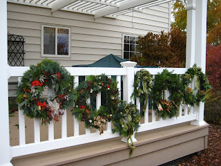 natural holiday wreaths