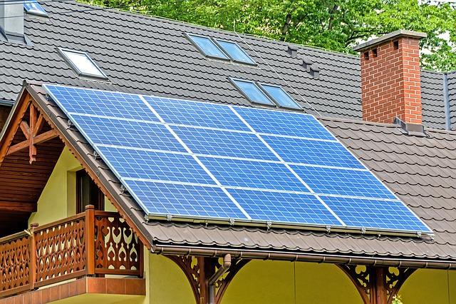 energía solar en techo