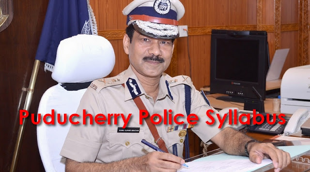 Puducherry Police Syllabus