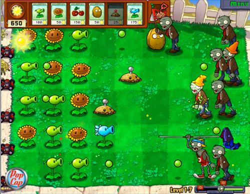 Jugar a Plants vs zombies en línea gratis