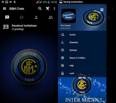 BBM Tema Inter Milan Mod Apk 2017
