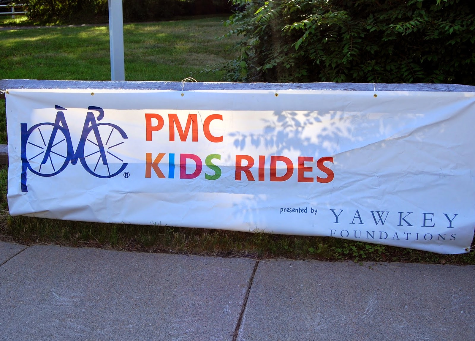 The PMC Kids Rides sign