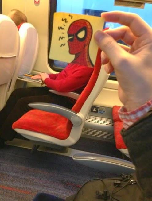 ספיידרמן ברכבת