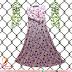 Gamis Misbee Pink Motif Bunga - Rp 110.000