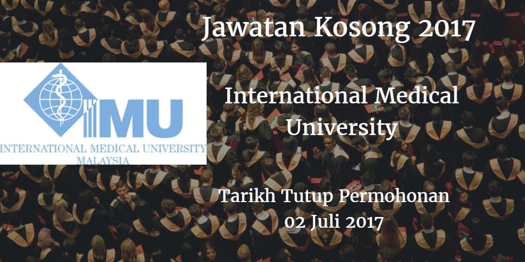 Jawatan Kosong IMU 02 Julai 2017
