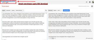 Google Terjemahan online