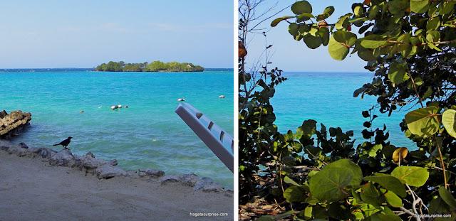Praia do Hotel San Pedro de Majágua, nas Ilhas do Rosário, Colômbia